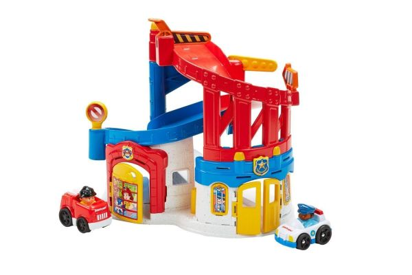 Fisher Little People Race And Chase Rescue Wheelies Playset